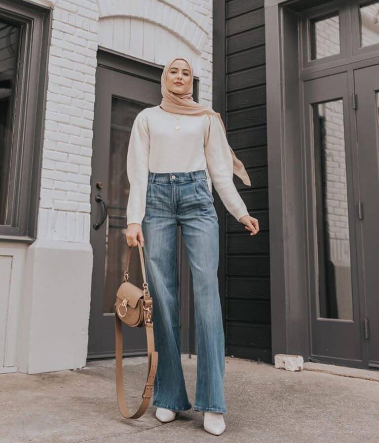 flare jeans hijab