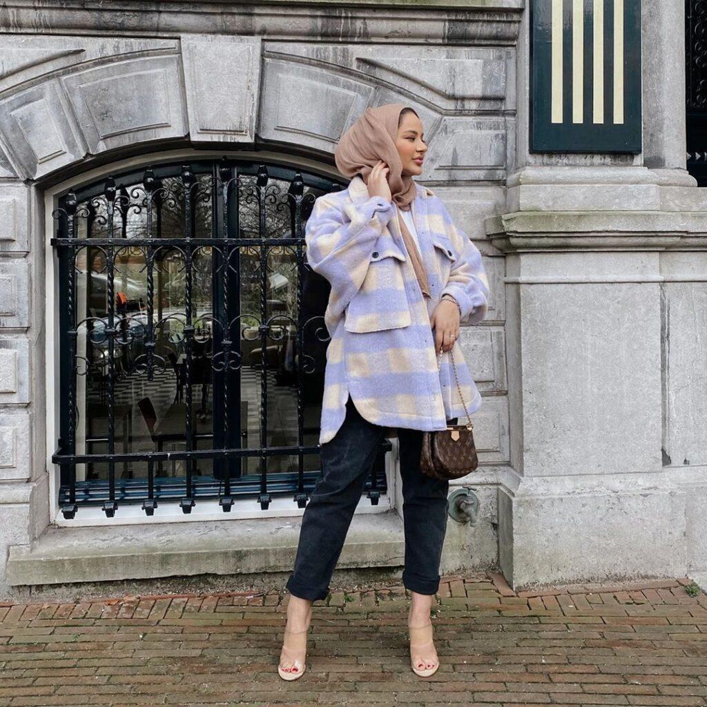 hijab plaid