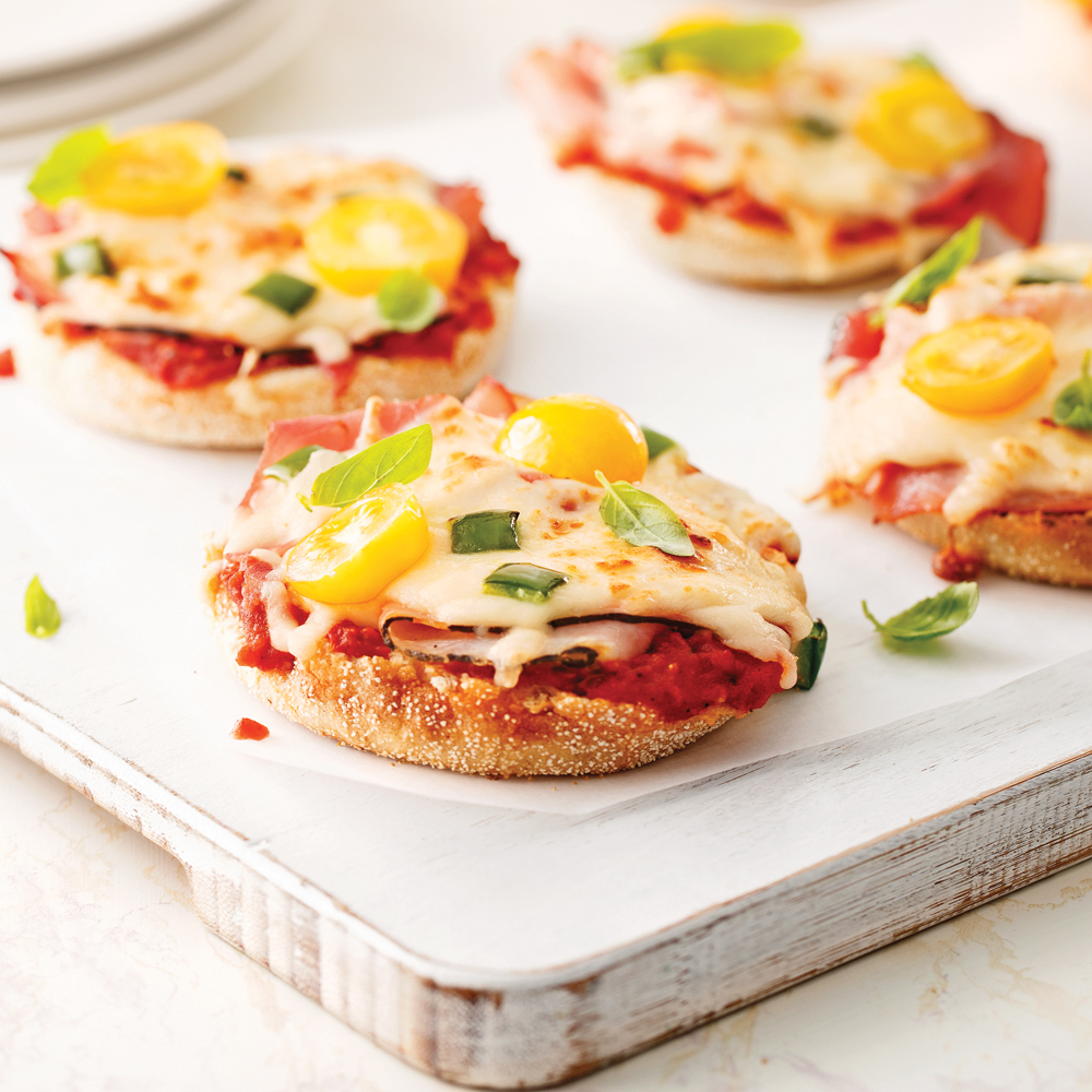 vegetables mini pizza